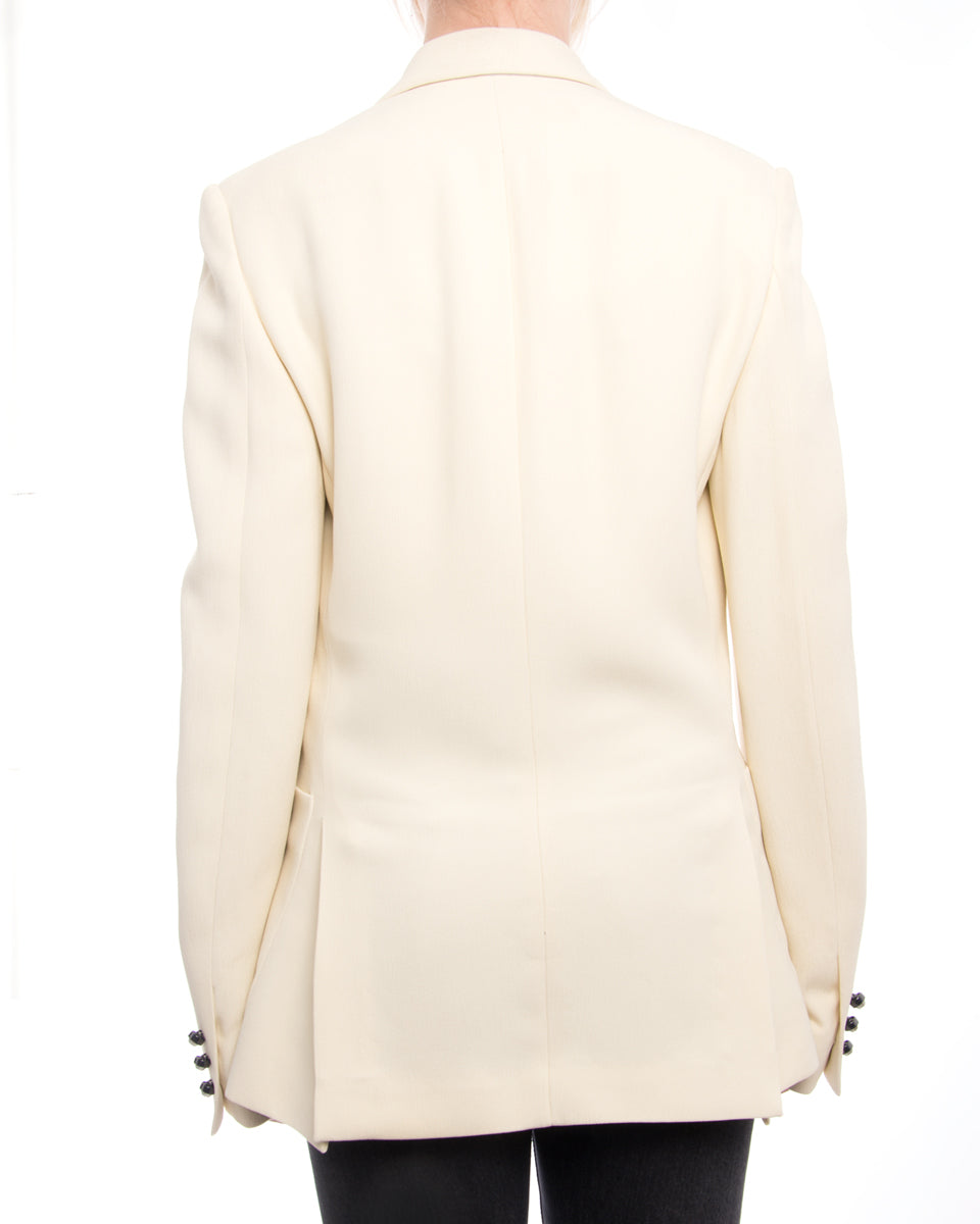Christopher Kane Spring 2015 Runway Ivory Jacket with Silver Buttons