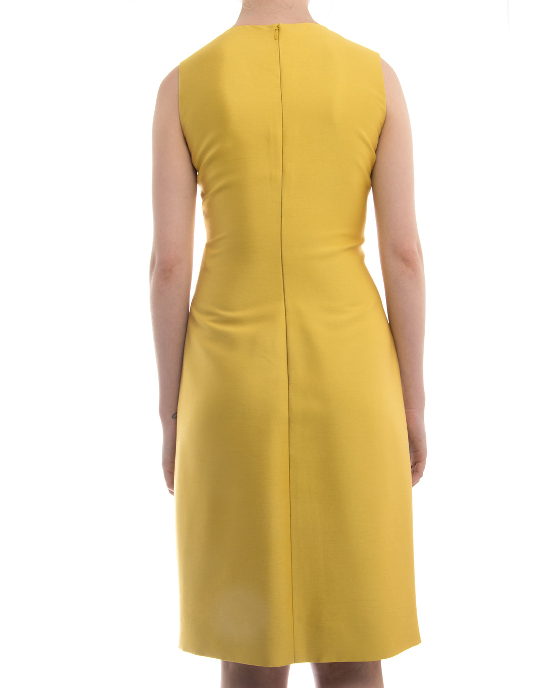 Valentino Chartreuse Yellow Pleated Cocktail Dress - 4 / 6
