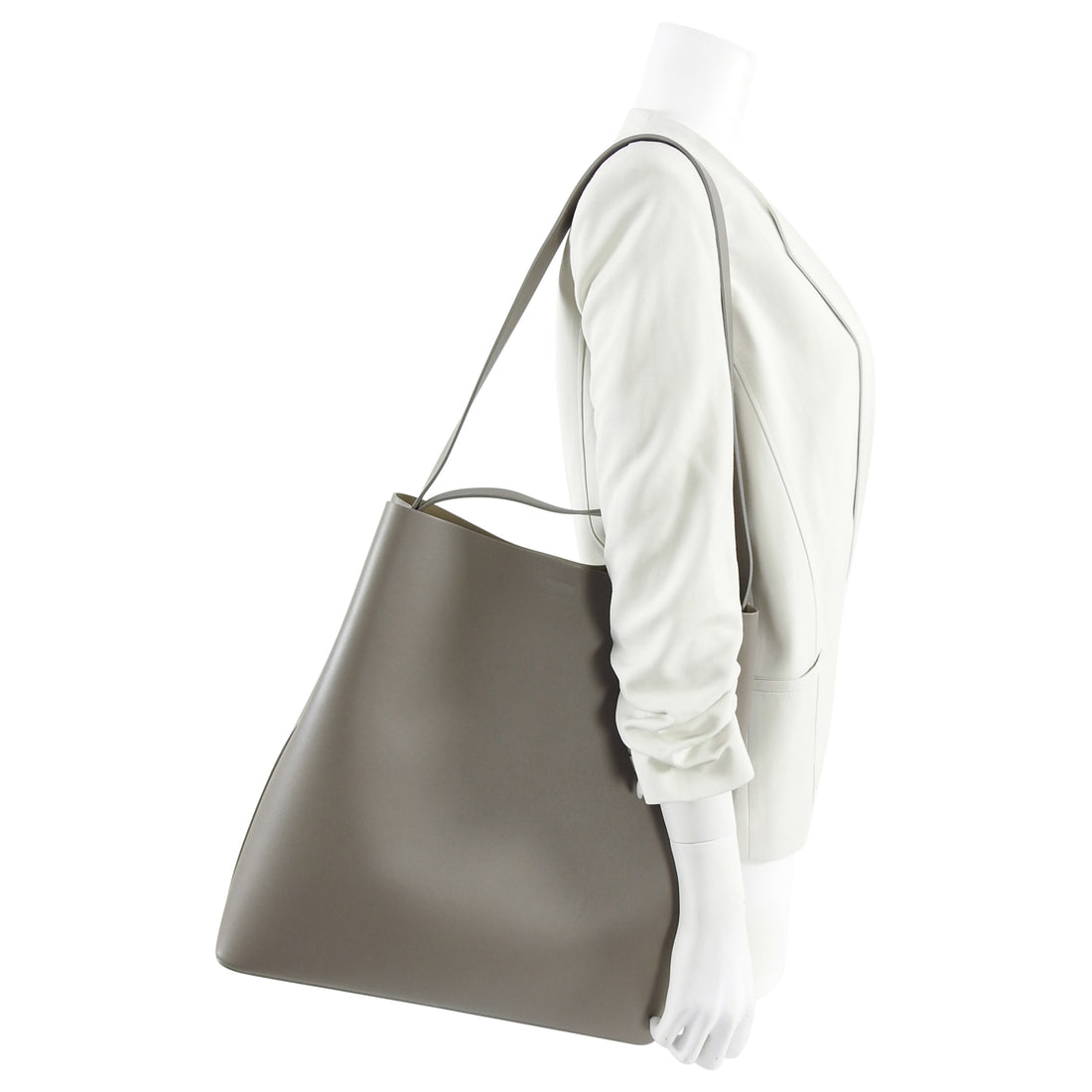 Aesther Ekme Large Grey Leather Sac Tote Bag