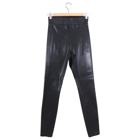 L'Agence Rochelle Coated Leather Look Skinny Leggings - S