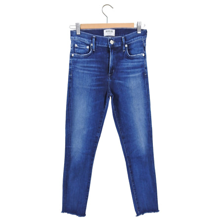 A Golde Sophie Skinny Crop High Rise Blue Stretch Denim - 26