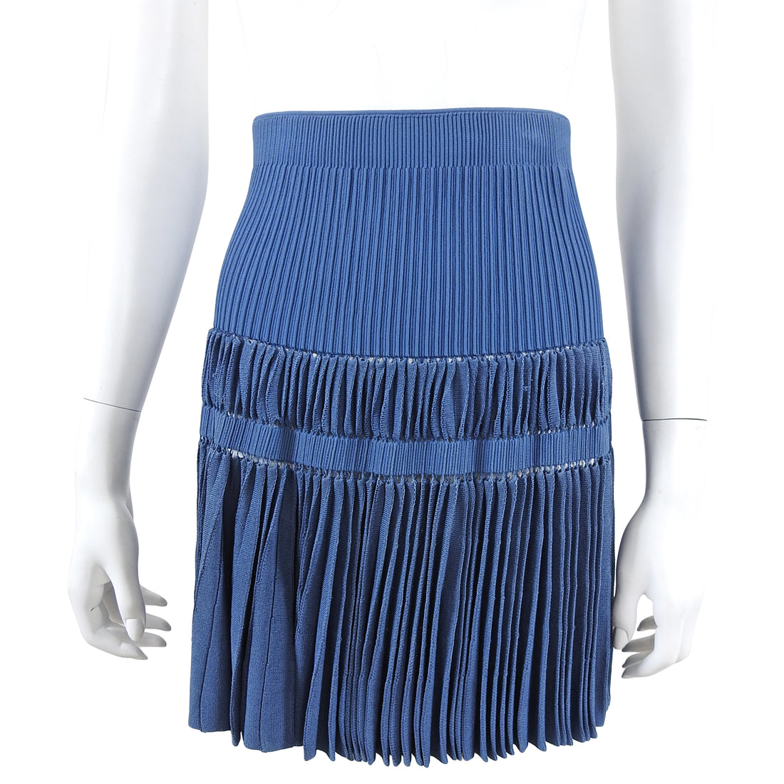 Alaia Periwinkle Blue Knit Mini Skirt - XS / 0