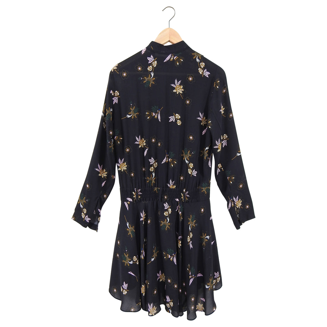 ALC Black Floral Boho Campbell Dress - 4