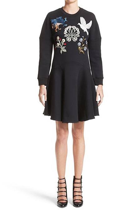 Alexander McQueen Medieval Embroidered Sweatshirt Dress - 2