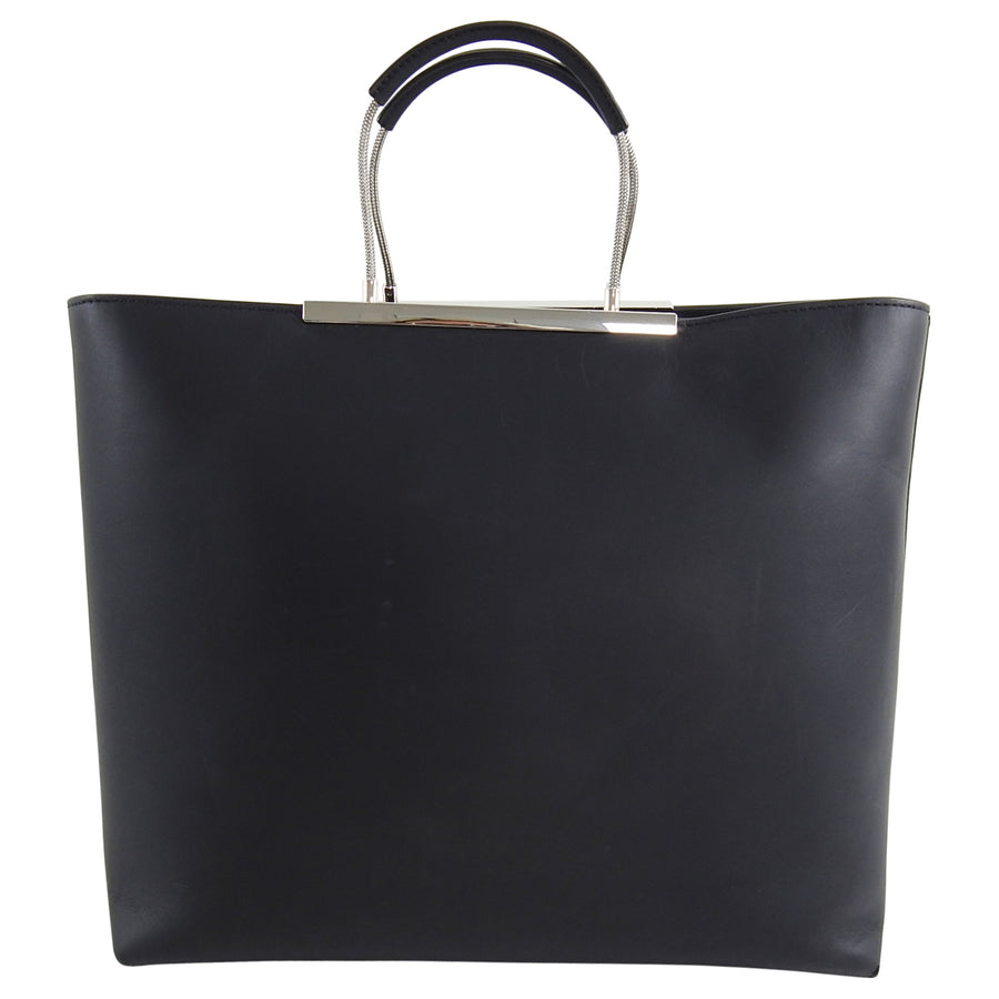 Alexander Wang Black Zip Top Logo Letters Tote Bag