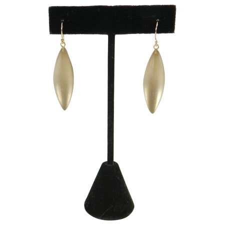 Alexis Bittar Clear Gold Resin and 14k Drop Earrings
