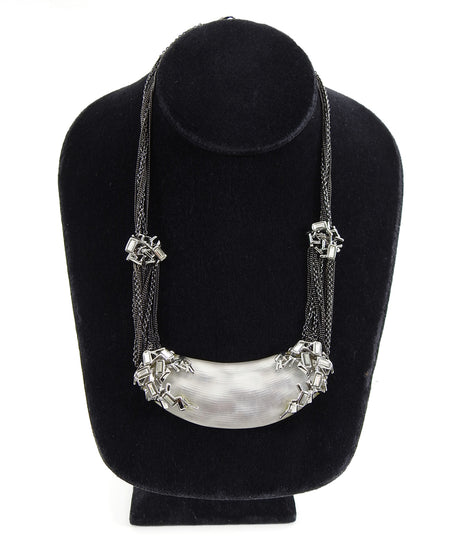 Alexis Bittar White Resin Chain Necklace