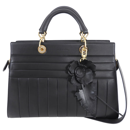 Altuzarra Black Leather Quilted Infinity Tote Bag