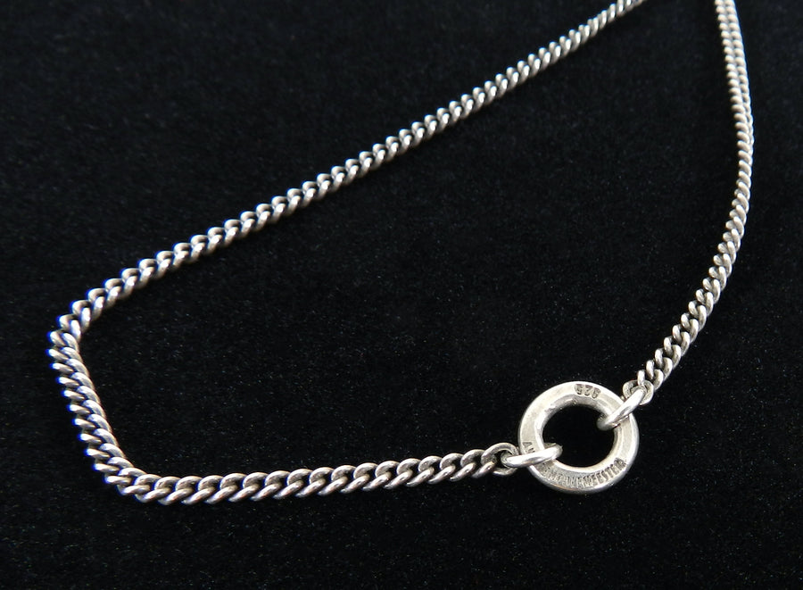 Ann Demeulemeester Sterling Silver Long Pendant Necklace