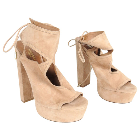 Aquazzura Suede Sexy Thing Platform Sandals - 40 / 9.5