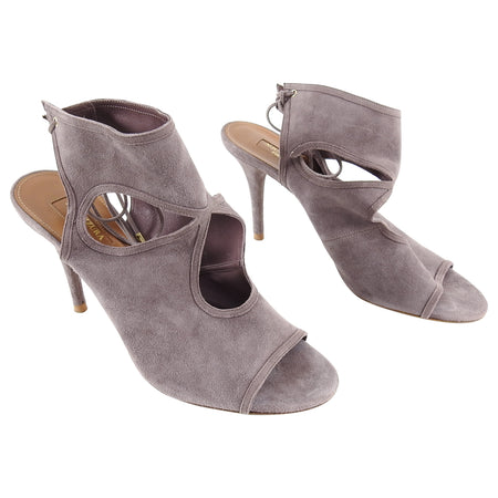 Aquazzura Sexy Thing Lavender Purple Suede Heels - 40
