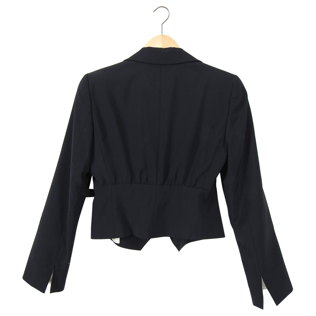 Emporio Armani Black Fitted Blazer with Side Detail - IT42 / 6