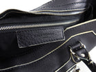 Balenciaga Matte Black Leather Motocross City Bag