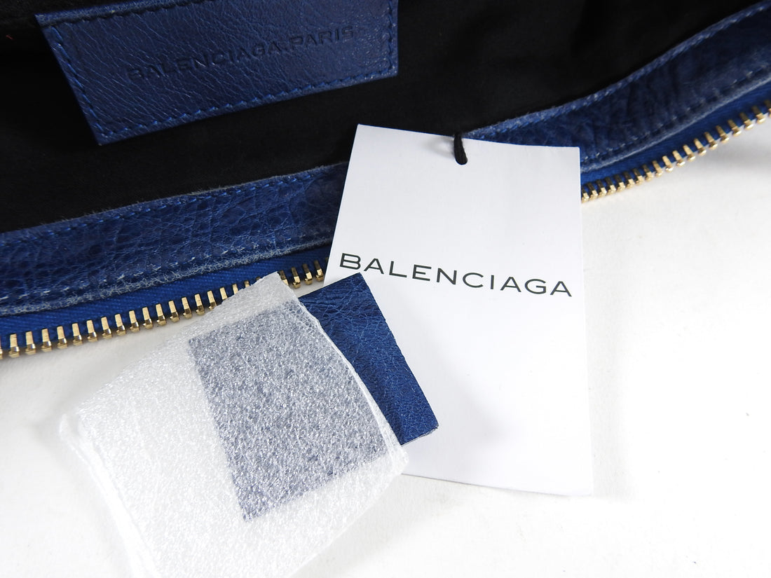 Balenciaga Blue Lambskin Large Giant 21 Work Bag