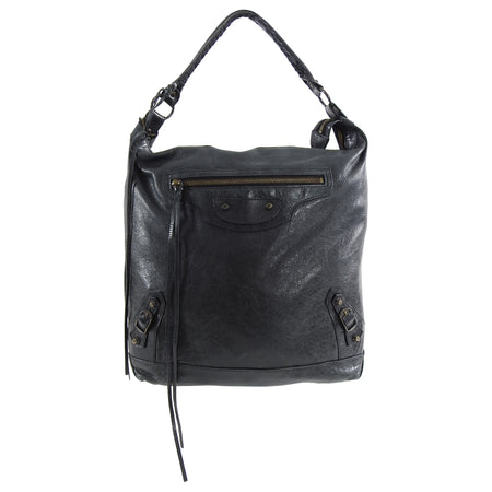 Balenciaga Chevre Charcoal Ink Grey Day Bag