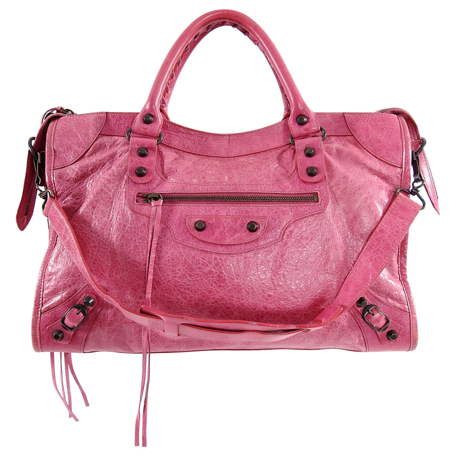 0c6d283d244 Balenciaga Pink Classic Motocross City Bag – I MISS YOU VINTAGE