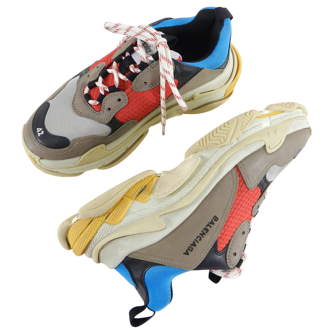 Balenciaga Triple S Trainers - Red, Blue, Grey - 9