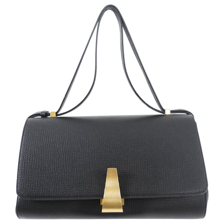 Bottega Veneta Black Grained Leather The Angle Bag