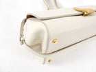 Bottega Veneta Ivory Grained Leather The Angle Bag