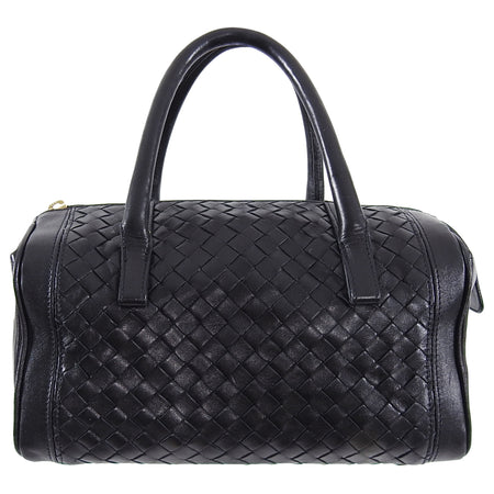 Bottega Veneta Black Intrecciato Leather Small Doctor Bag