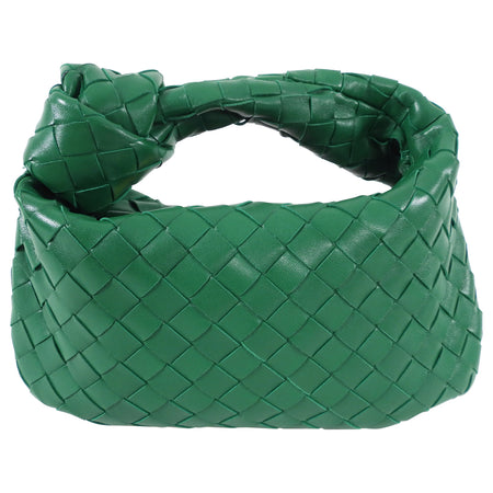 Bottega Veneta Mini Green Jodie Intrecciato Leather Hobo Bag