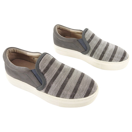 Brunello Cucinelli Bead Stripe Flat Slip on Sneakers - 37 / 6.5