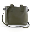 Brunello Cucinelli Olive Green Large Tote Bag with Bead Detail