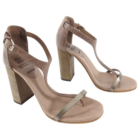 Brunello Cucinelli Taupe Brown Chunky High Heel Sandals - 39