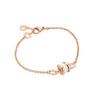 Bulgari B.Zero1 18k Rose Gold Ceramic Soft Bracelet - S/M