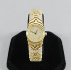 Bulgari Ladies Yellow Gold Diamond Parenthesis Quartz Bangle Wristwatch, c1993
