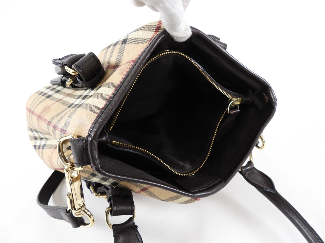 Burberry Haymarket Check Northfield Satchel Two Way Bag