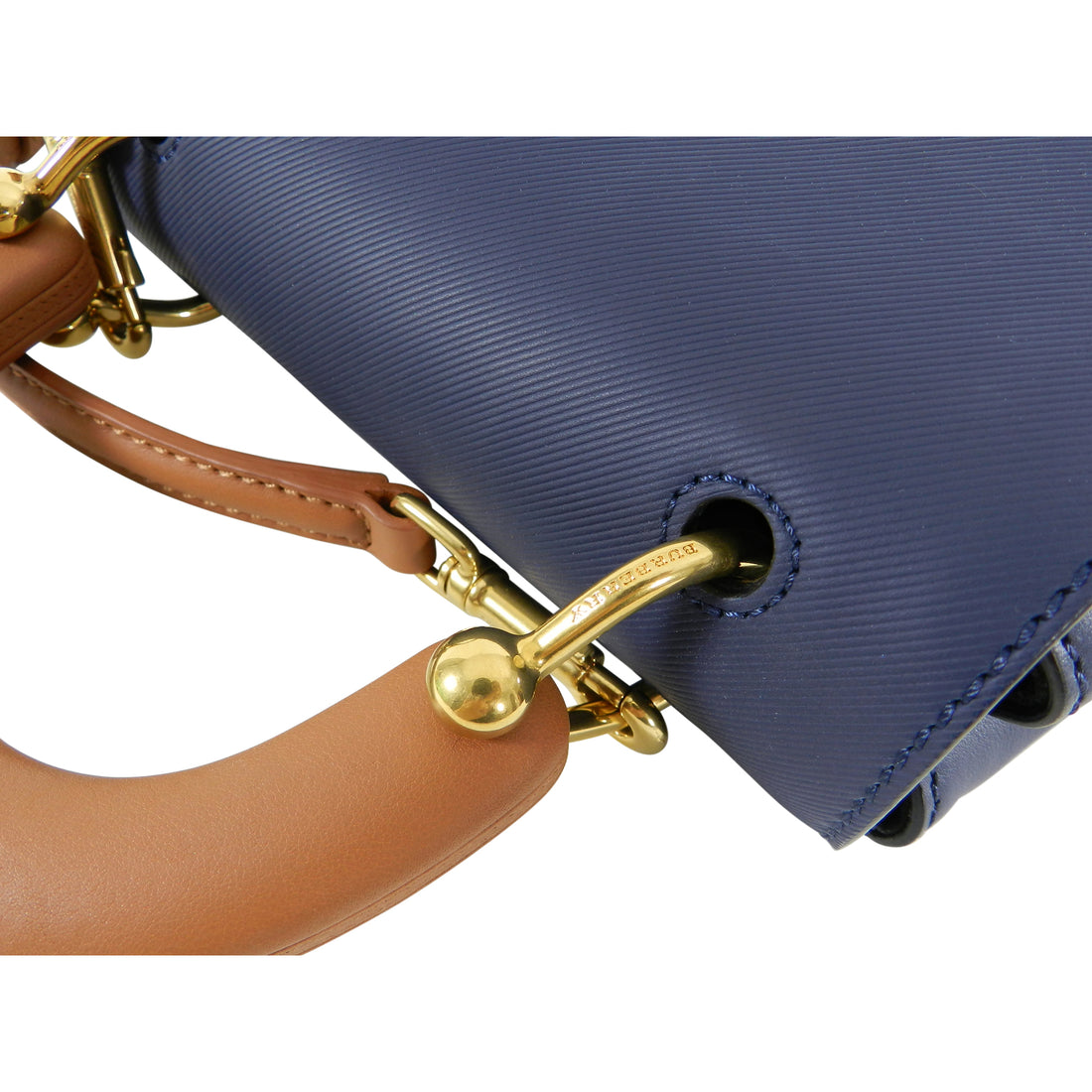 Burberry DK88 Small Top Handle Bag in Ink Blue