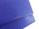 Burberry Cobalt Blue Grained Leather Small Clutch Bag