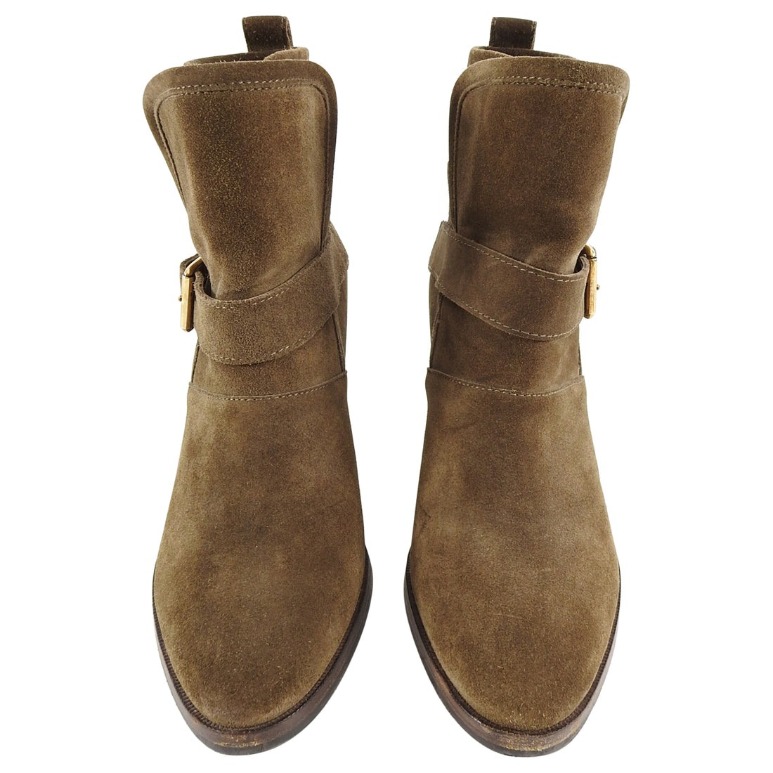 Burberry Brown Suede Larina 75 Ankle Boots - 38