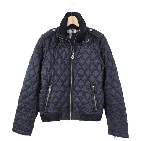 Burberry Brit Quilted Nylon Nova Check Interior Jacket - S