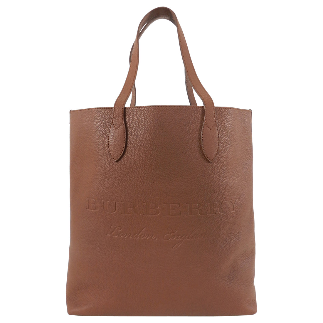 Burberry Remington Chestnut Brown Large Leather Logo Tote