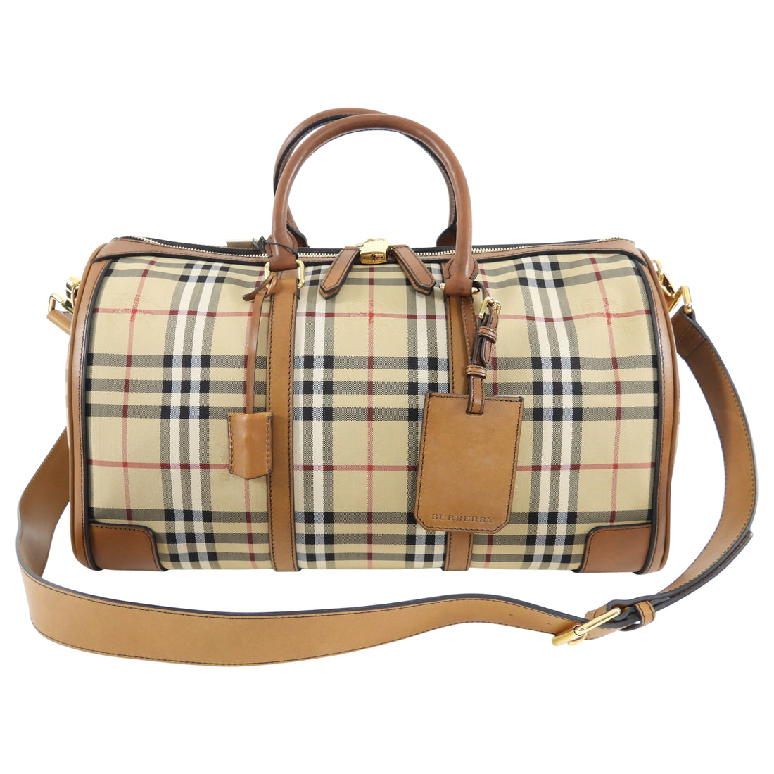 Burberry Horseferry Check Large Alchester Holdall Duffle Bag