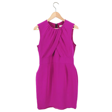 Burberry London Fuchsia Sleeveless Silk Wiggle Dress - USA 8