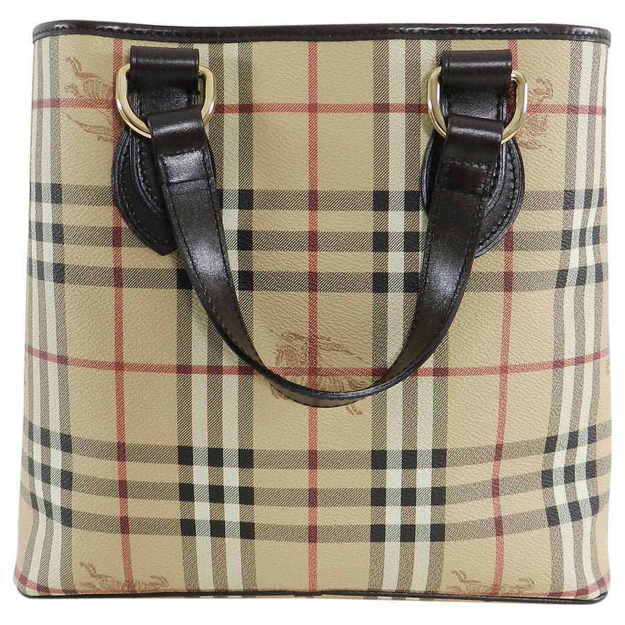 Burberry Haymarket Small Tote Bag