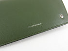 Burberry Olive Green Leather Phone Wallet