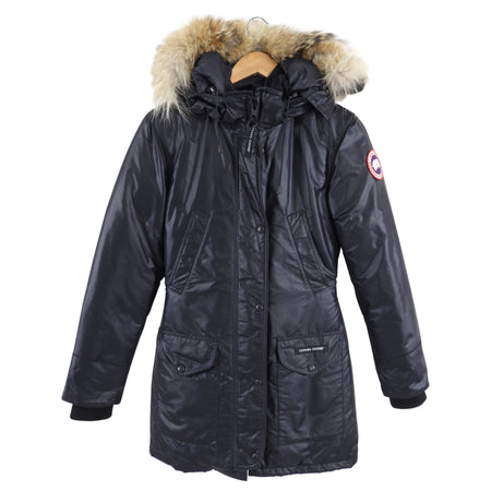 Canada Goose Black Hooded Parka - 2XS / USA 0