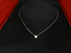 Cartier Heart of Cartier Mini 18k White Gold Diamond Heart Necklace