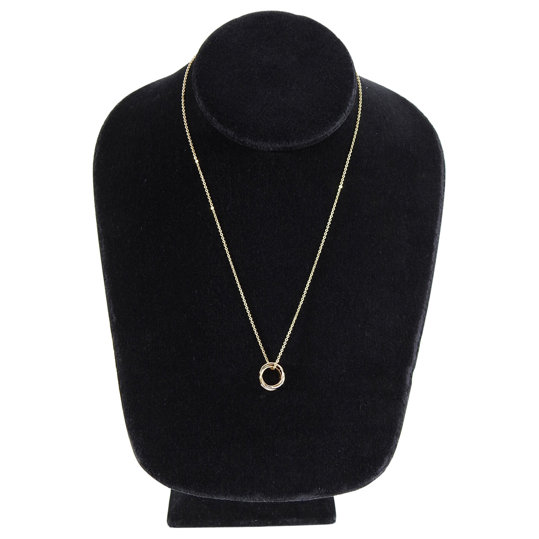 Cartier Trinity de 18k Tri-color Gold 15 Diamond Pendant Necklace
