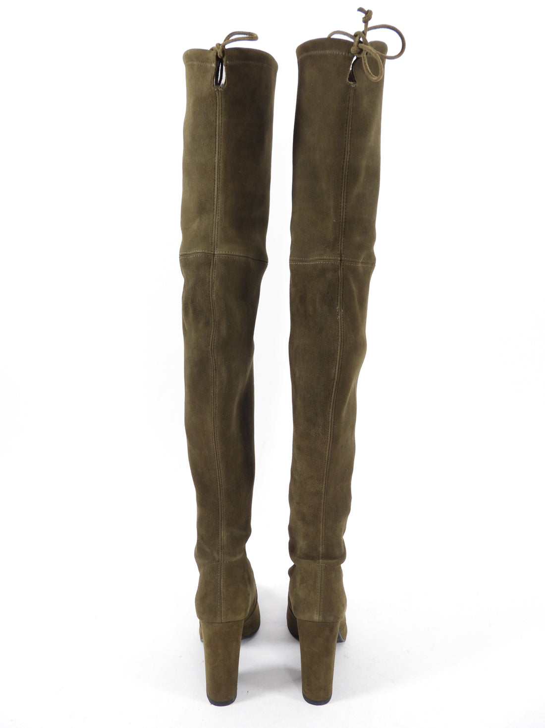 Stuart Weitzman Olive Suede Hi Street Over the Knee Boots - USA 8