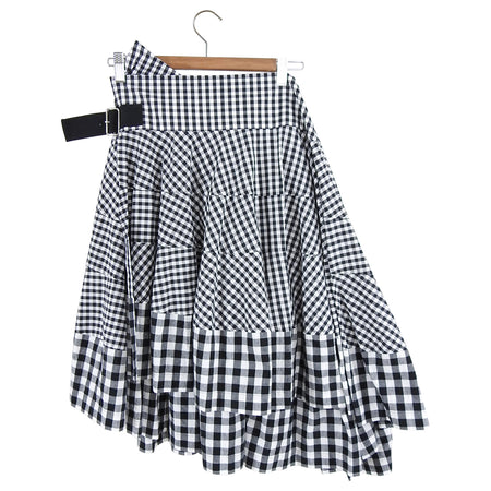 Comme des Garcons Tricot Gingham Check Ruffle Wrap Skirt - M / 6/8