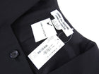 Comme Des Garcons Black Wool Sleeveless Jacket Vest - S