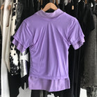 Comme des Garcons Fall 2007 Lilac Purple Layered Polo Shirt