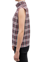 Celine Fall 2013 Red Plaid Knit Tank Top