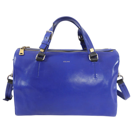 Celine Blue Leather Duffle Two-Way Bag