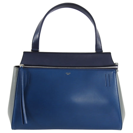 Celine Tricolor Blue Black Grey Small Edge Bag